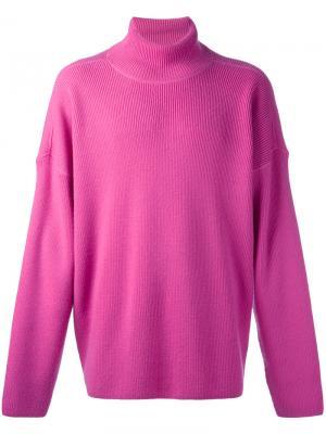 Водолазка свободного кроя Ami Alexandre Mattiussi. Цвет: розовый и фиолетовый