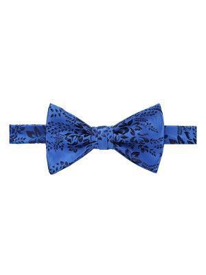 Галстук бабочка Tachi Floral Bures Duchamp. Цвет: темно-синий, голубой, лазурный, синий