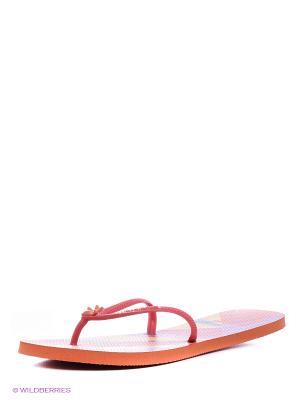 Шлепанцы Havaianas. Цвет: оранжевый