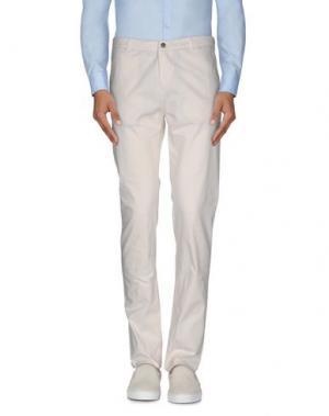 Повседневные брюки DANIELE ALESSANDRINI. Цвет: белый