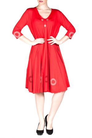 Платье Exline. Цвет: красный