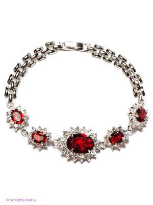 Браслет Lovely Jewelry. Цвет: серебристый, бордовый