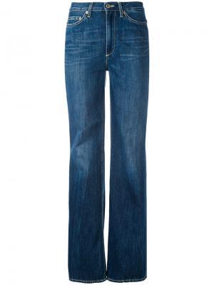 Широкие джинсы Dondup. Цвет: синий