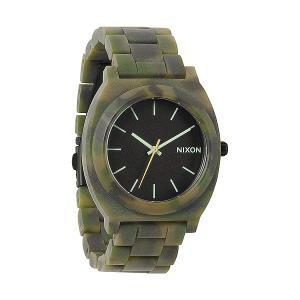 Часы  Time Teller Acetate Matte Black/Camo Nixon. Цвет: камуфляжный