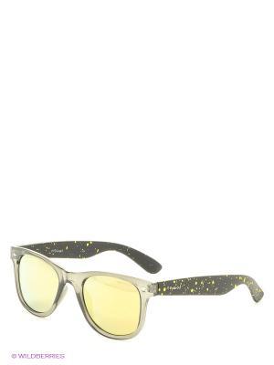 Солнцезащитные очки Polaroid. Цвет: серый, желтый