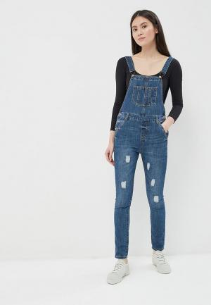 Комбинезон джинсовый So Sweet. Цвет: синий