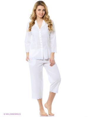 Пижама Eileen West. Цвет: белый