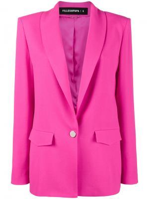 Классический приталенный блейзер Filles A Papa. Цвет: розовый и фиолетовый