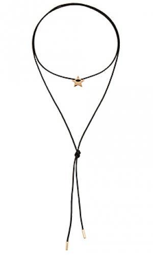 Обхватывающий чокер из корда star joolz by Martha Calvo. Цвет: черный