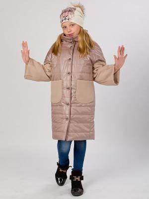 Стеганое пальто MARIELA. Цвет: бежевый