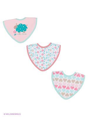 Комплект детский: нагрудники 3 шт. Lucky Child. Цвет: розовый
