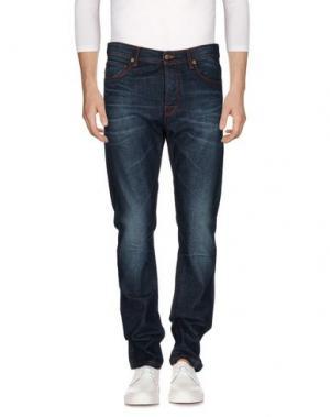 Джинсовые брюки RAF BY SIMONS. Цвет: синий