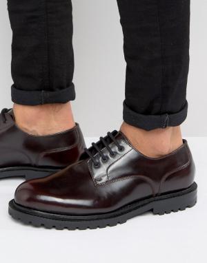Hudson London Кожаные туфли дерби эксклюзивно для ASOS. Цвет: красный