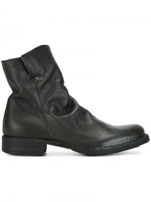 Ботинки по щиколотку с мятым эффектом Fiorentini +  Baker. Цвет: серый