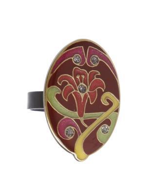 Кольцо Clara Bijoux. Цвет: светло-зеленый, красный, малиновый