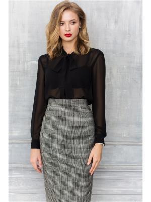 Блузка MORU. Цвет: черный