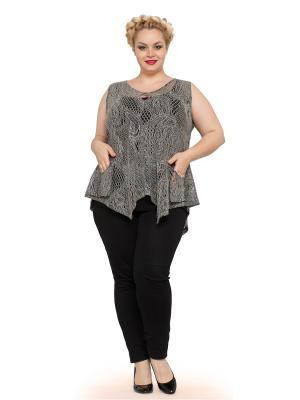 Блуза Мечты Данаи. Цвет: черный, серый