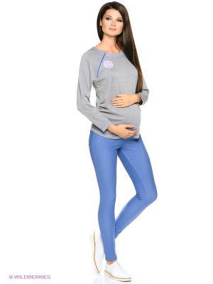 Джинсы для беременных Nuova Vita. Цвет: голубой