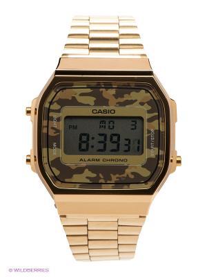 Часы Casio A-168WEGC-5E. Цвет: золотистый