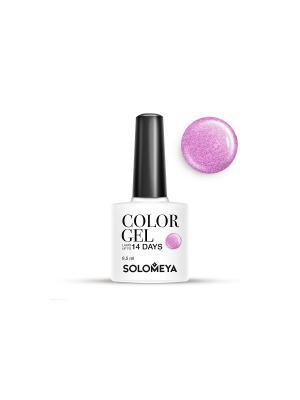 Гель-лак Color Gel Тон Kelly SCG119/Келли SOLOMEYA. Цвет: розовый