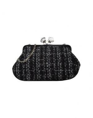 Средняя сумка из текстиля PAPÀ RAZZI. Цвет: черный