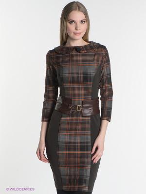 Платье SUGARLIFE. Цвет: темно-коричневый, темно-серый, рыжий