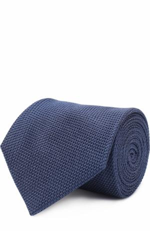 Шелковый галстук Lanvin. Цвет: синий