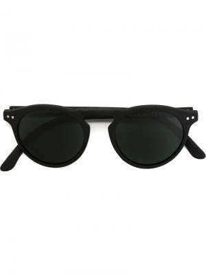Солнцезащитные очки в круглой оправе Spektre. Цвет: чёрный