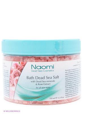 Соль Мертвого моря с экстрактом розы Naomi Dead Sea Cosmetics. Цвет: розовый