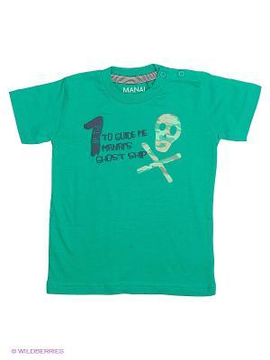 Футболка MANAI. Цвет: зеленый