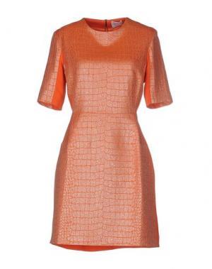 Короткое платье RICHARD NICOLL. Цвет: оранжевый
