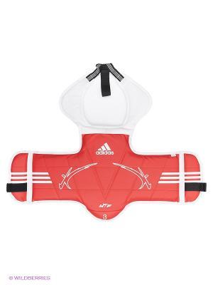 Защита корпуса двухсторонняя Kids Body Protector Reversible WTF Adidas. Цвет: красный, белый