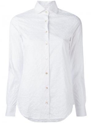 Рубашка с вышивкой Xacus. Цвет: белый