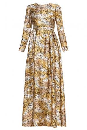 Платье из шелка с поясом 136805 Villa Turgenev. Цвет: желтый
