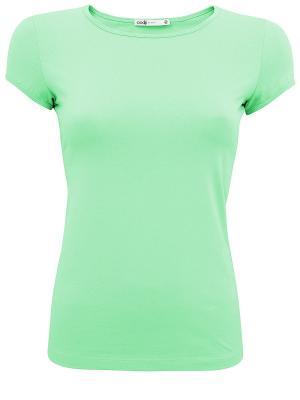 Футболка Oodji. Цвет: зеленый, салатовый