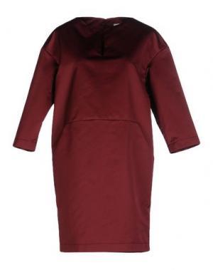 Короткое платье ANTONELLI. Цвет: красно-коричневый