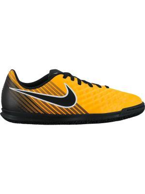 Бутсы JR MAGISTAX OLA II IC Nike. Цвет: оранжевый, черный