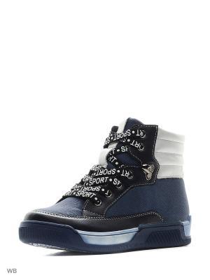 Ботинки San Marko. Цвет: серо-голубой