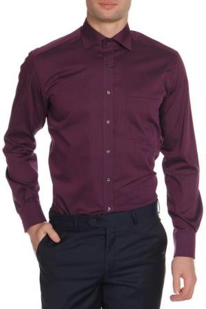 Рубашка ETERNA. Цвет: баклажановый
