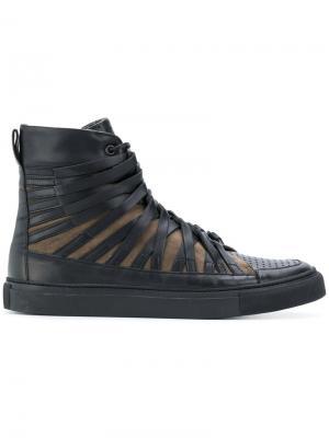 Хайтопы со шнуровкой Damir Doma. Цвет: чёрный