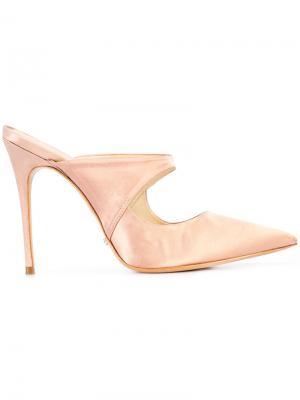 Мюли с заостренным носком Schutz. Цвет: розовый и фиолетовый