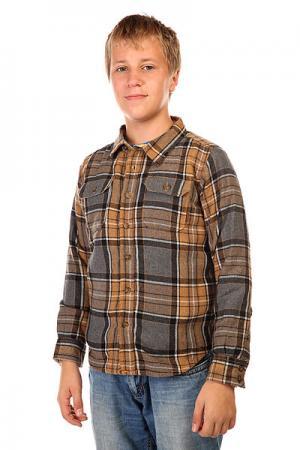 Рубашка утепленная детская  Cole Inca Pitkin Pld Burton. Цвет: серый,коричневый