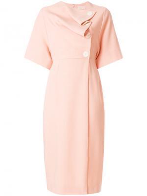 Платье Sakura со складками Roksanda. Цвет: телесный