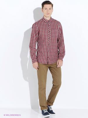 Рубашка S.OLIVER. Цвет: красный, серый
