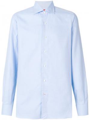 Жаккардовая рубашка Isaia. Цвет: синий