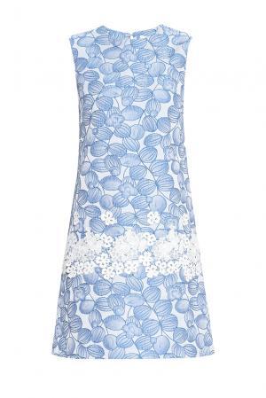 Платье из искусственного шелка 148315 Yanina. Цвет: синий