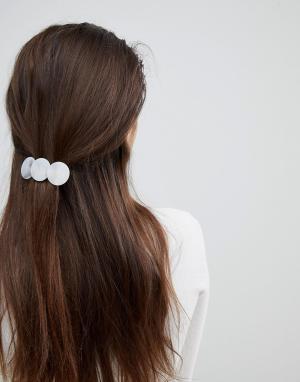 ASOS Заколка для волос с декоративными дисками из искусственного мрамора AS. Цвет: мульти