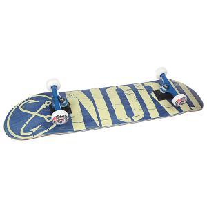 Скейтборд в сборе  Logo Navy/Beige 31.75 X 8 (20.3 См) Nord. Цвет: синий,бежевый