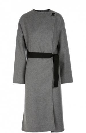 Пальто прямого кроя со спущенным рукавом и поясом Isabel Marant. Цвет: светло-серый