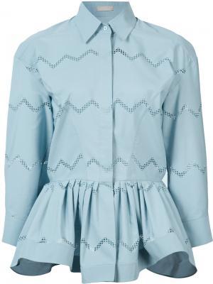 Рубашка с баской Alaïa. Цвет: синий